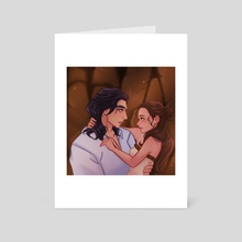Prince Ben and Rey - Art Card by Vivian Rodriguez
