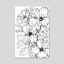 hibiscus flowers - Acrylic by Mariya Strelnikova