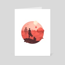 Tatooine Sunset - Art Card by Anna Kuptsova