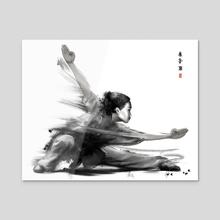Kung Fu Girl - Acrylic by ILYOTAO