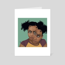 Better To See You With - Art Card by Jacqueline  Stevenson