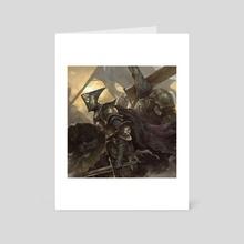 Cube warrior - Art Card by Zhuoxin Ye