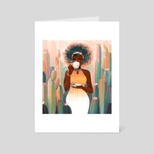 Cacti Tea - Art Card by Geneva Bowers
