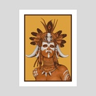 Witch Doctor - Art Print by Non Vale Art