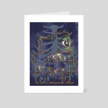Splash the light - Art Card by Victoria Lenskaya
