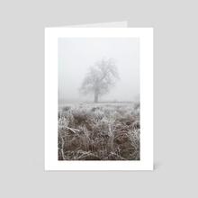 Frozen tree (I) - Art Card by Svetlana Dikhtyareva