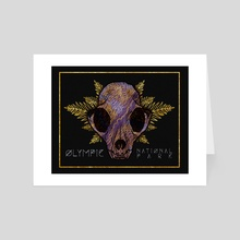 National Park Skull: Olympic - Art Card by Karly Matson