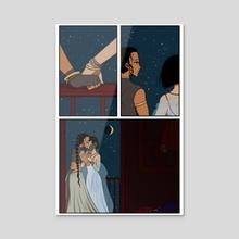 The Balcony - Acrylic by Noel Lee