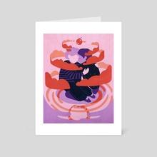The Lovers - Art Card by Deborah Lee