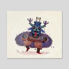 The Carnaval Dancer  - Acrylic by Corentin Asproni