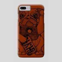 Maneki-Pug in Rust - Phone Case by b. dunigan