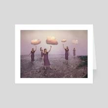 Glowing Clouds - Art Card by Elena Makarova