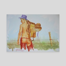 Cowboy #1812 - Canvas by Hongtao Huang