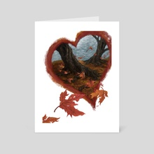 Fall Leaves - Art Card by Andrew Cefalu