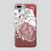 Botanical Heart - Phone Case by Sean Rogers