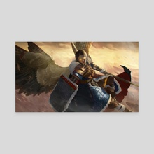 Armored Angel - Canvas by Josu Hernaiz