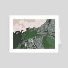 the island - Art Card by Aleta Pérez