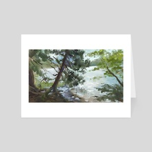 Acadia Maine Trail  - Art Card by Allison Gloe