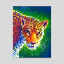 Light in the Rainforest - Jaguar - Canvas by Rebecca Wang