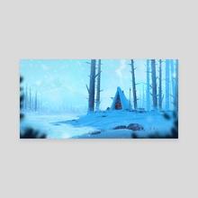 Snowy Scenery - Canvas by Niklas Bellok