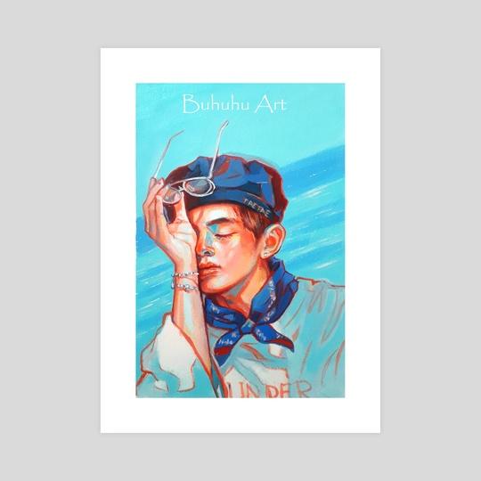 'Blue Day' Taehyung by Buhuhu Art