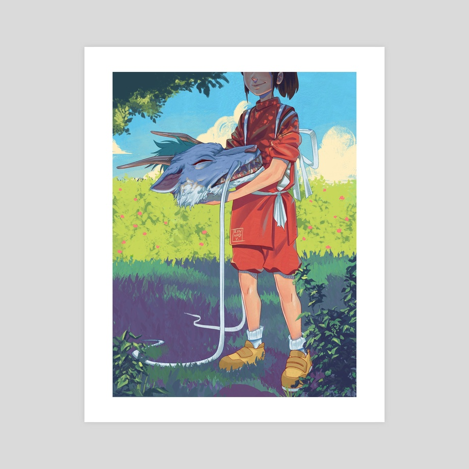 Chihiro Haku Spirited Away An Art Print By Ryan Ahmad Y Inprnt