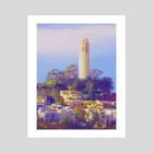 Coit Tower - Art Print by Tom Carlos