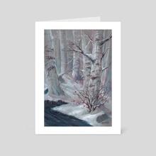 Winter - Art Card by Anna Augustyniak