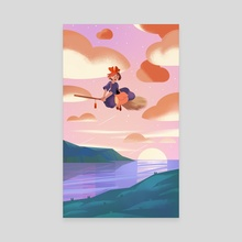 Kiki & Gigi - Canvas by Wendi Chen
