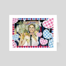 Becky Ann Leeman - Art Card by Miriam Carothers