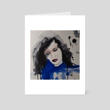Blue - Art Card by Captured  Impressions