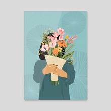 Flowers for you! - Acrylic by Ankita  Arora