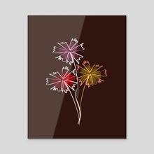 The free flowers - Acrylic by Navita Williams