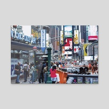 The Times Square Photographer - Acrylic by Rafi Alam