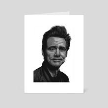Jim Carrey - Art Card by Bartosz Gorczyca