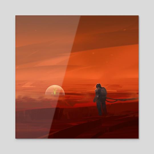 143: Green on Red by Yakovlev Art