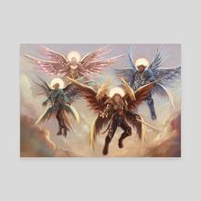 Throne Room Invitation - Canvas by Mingye Zhu