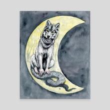 Werewolf - Canvas by Josephine  Estey