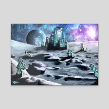 Forgotten Civilization - Acrylic by Brandon Ellis