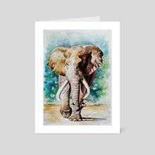 Elephant 1 - Art Card by Robert Décurey