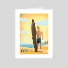 Surf 15 - Art Card by Ethelbert Metzger