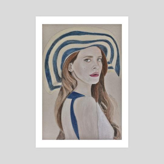 Lana Del Rey Colored Pencil Portrait by Ethan Vuilleumier
