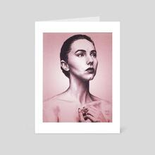 Kacie Marie face - Art Card by Victor Roa