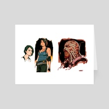 RE3 Sketches - Art Card by Joshua Swaby