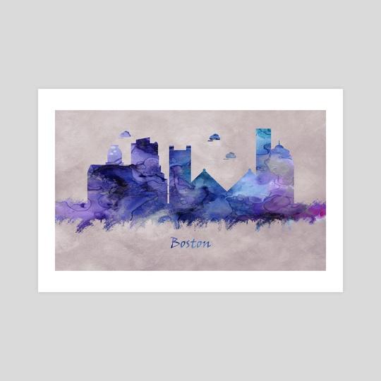 Boston City in Massachusetts, Skyline by Towseef Dar