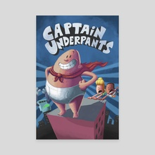 Captain Underpants Cover Remake - Canvas by Angelo Furfaro