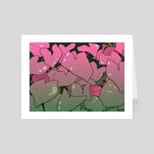 pink arrowhead hoppip - Art Card by mints
