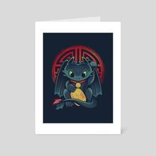 Maneki Dragon - Art Card by Victor Vercesi