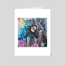 Colorful Me - Art Card by Tanya Shatseva