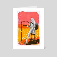 Brian May - Risograph - Art Card by Meghan McDunnah